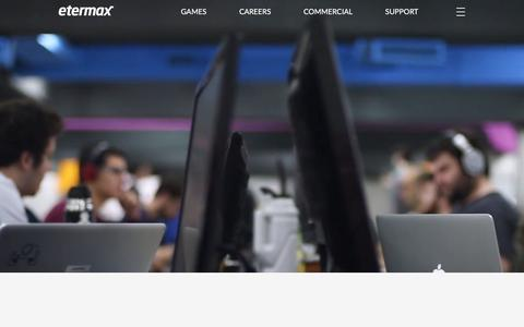Screenshot of Support Page etermax.com - Etermax - captured July 21, 2018