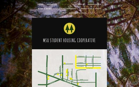 Screenshot of Maps & Directions Page msu.coop - Map — MSU Student Housing Cooperative - captured Nov. 2, 2014