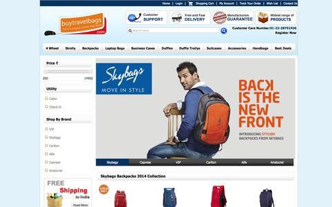Screenshot of Home Page buytravelbags.com - buy travel bags, sky bag luggage, cheap duffle bag, polo duffle bag - VIP Travel Bags: Travel Bags, Business Bags, Accessories, Duffle Bags, Strolly Bags, Trolley Bags, Backpack, Briefcase, Suitcase - captured Sept. 19, 2014