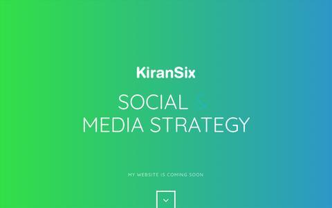 Screenshot of Home Page kiransix.com - Kiran Six Digital Creative - captured Jan. 28, 2017