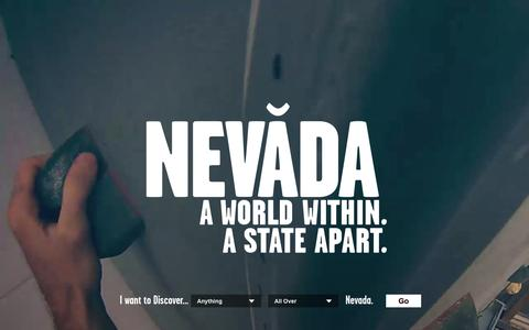 Screenshot of Home Page travelnevada.com - Nevada: World Within. A State Apart. | Nevada Travel & Tourism | Nevada Travel & Tourism - captured Nov. 2, 2015