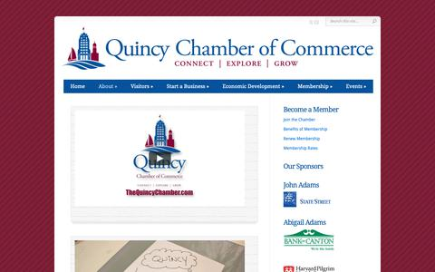 Screenshot of About Page thequincychamber.com - About | Quincy Chamber of Commerce - captured Sept. 30, 2018