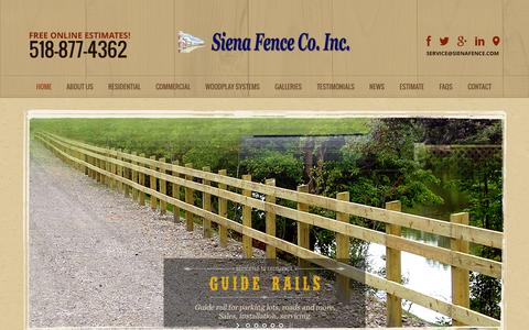 Screenshot of Terms Page sienafence.com - Residential Fencing Albany | Commercial Fencing New York - captured Oct. 9, 2014