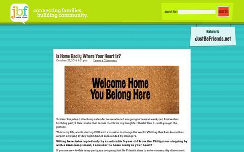 Screenshot of Blog justbefriends.net - Just Be Friends Kids Blog - captured Oct. 28, 2014