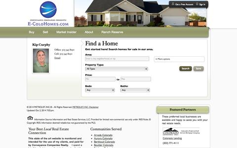 Screenshot of Home Page conveyanceco.com - Denver and the Front Range Homes for Sale - captured Oct. 3, 2014