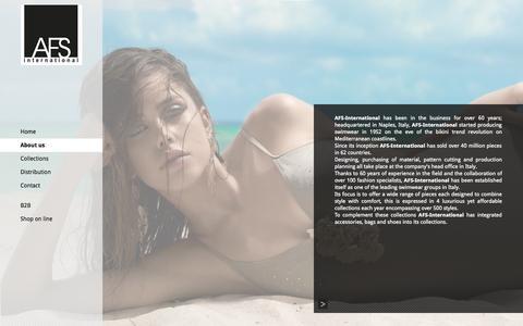 Screenshot of About Page afs-international.it - AFS International - About us - captured Sept. 30, 2014