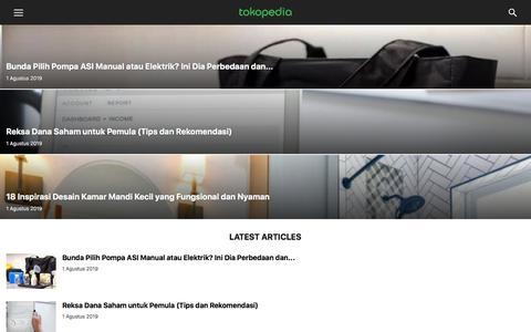 Screenshot of Blog tokopedia.com - Blog Tokopedia   Info Terkini di Tokopedia - captured Aug. 1, 2019