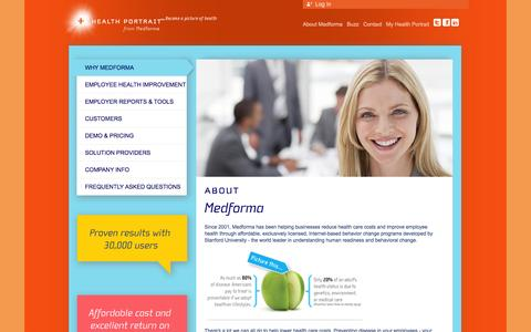 Screenshot of Signup Page medforma.com - Medforma | Health Risk Assessment Provider & Passionate about the Wellness of Your Employees - captured Oct. 27, 2014