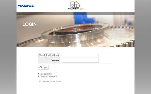 Screenshot of Login Page yaskawacloud.com - Login - YASKAWA Cloud - captured July 21, 2019