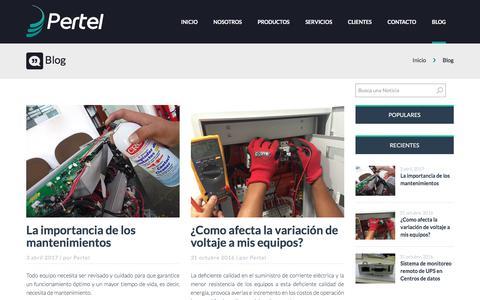 Screenshot of Blog perteldeperu.com - Venta de UPS APC en Perú, APC UPS MONOFASICO, TRIFASICO - captured July 8, 2017