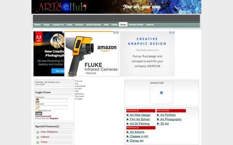 Screenshot of Press Page artsehub.com - ARTSeHUB - captured Oct. 4, 2014