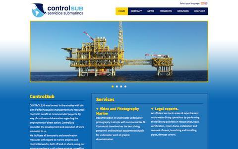 Screenshot of Home Page controlsub.com - ControlSub - La Siesta Creativa web design and programming base - captured Sept. 30, 2014