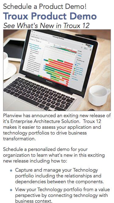 Planview Live Product Demo   Troux Product Demo