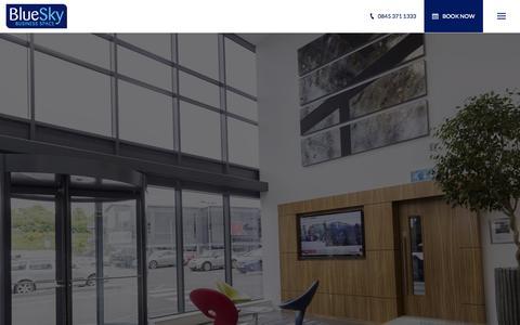 Screenshot of Home Page blueskybs.com - BlueSky Business Space - captured Sept. 13, 2015