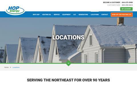 Screenshot of Locations Page hopenergy.com - Locations | HOP Energy - captured Dec. 13, 2018