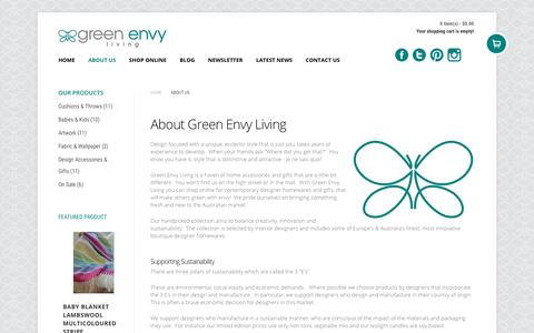 Screenshot of About Page greenenvyliving.com.au - About Green Envy Living - Green Envy Living - captured July 24, 2018