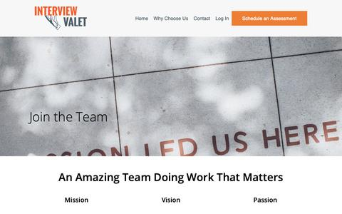 Screenshot of Signup Page interviewvalet.com - Join the Team - Interview Valet - Work from home with podcasters - captured Nov. 1, 2018