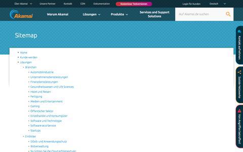 Screenshot of Site Map Page akamai.com - Sitemap | Akamai - captured Sept. 24, 2018