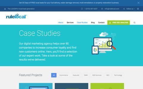 Screenshot of Case Studies Page rulelocal.com - Section: Case Studies - RuleLocal - captured Aug. 15, 2016