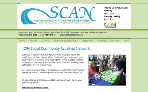 Screenshot of Signup Page scannj.com - SCAN NJ | Join SCAN - captured Nov. 28, 2016