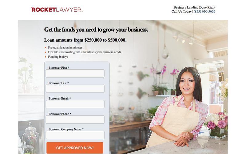 Rocket Lawyer - Business loans up to $500,000! | Dealstruck