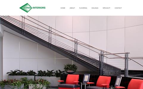Screenshot of Home Page sonusinteriors.com - Home - Sonus Interiors - captured Jan. 22, 2016