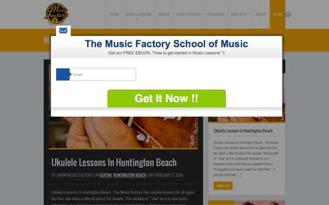 Screenshot of Blog themusicfactoryoc.com - Blog  The Music Factory OC - captured Feb. 15, 2016