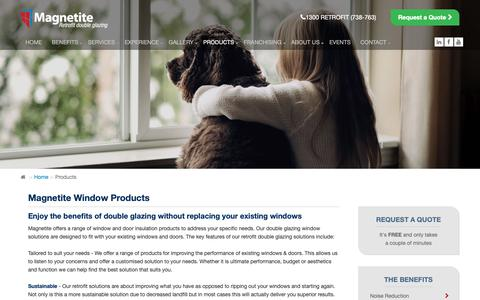 Screenshot of Products Page magnetite.com.au - Magnetite Window Products | Magnetite - captured Oct. 1, 2018