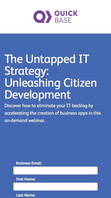 The Untapped IT Strategy: Unleashing Citizen Development Webinar   QuickBase