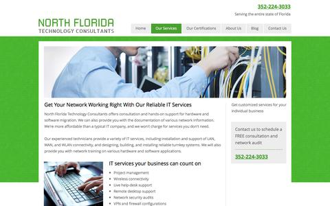 Screenshot of Services Page nflatc.com - IT Services | Network Security Audits | Gainesville, FL - captured Nov. 30, 2016