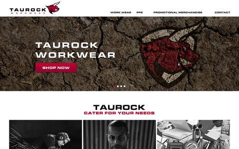 Screenshot of Home Page taurockworkwear.co.uk - Home page - captured Aug. 17, 2015