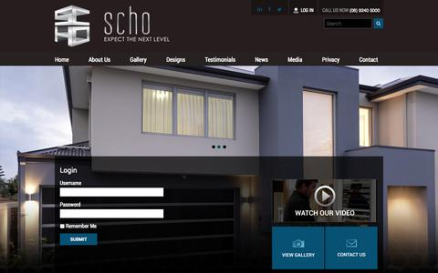 Screenshot of Login Page schohomes.com.au - Login | SCHO Homes - captured Oct. 4, 2014