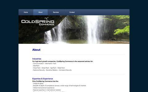 Screenshot of About Page coldspring.ca - About - ColdSpring Commerce - captured Jan. 29, 2016