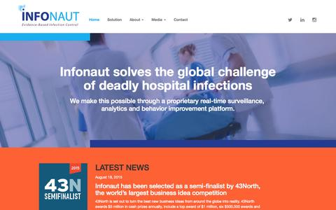 Screenshot of Home Page infonaut.ca - Home - Infonaut Inc. - captured Sept. 7, 2015