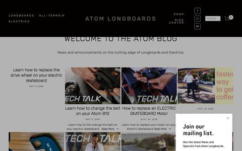 Screenshot of Blog atomlongboards.com - Atom Blog — ATOM LONGBOARDS - captured July 9, 2018