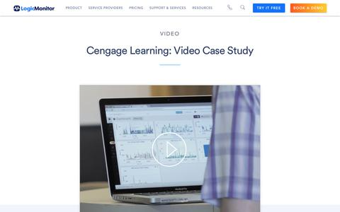 Screenshot of Case Studies Page logicmonitor.com - (1) New Message! - captured Dec. 12, 2019