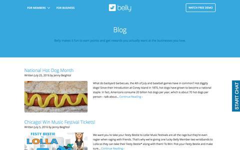 Screenshot of Blog bellycard.com - Blog Archives - Belly - captured Aug. 28, 2016