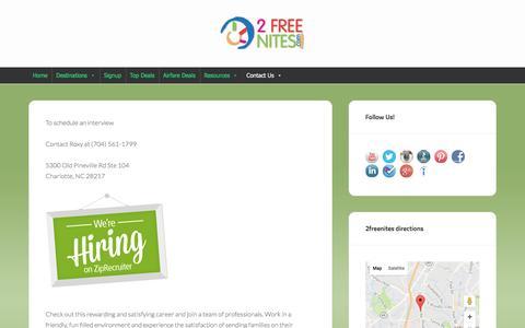 Screenshot of Jobs Page 2freenites.com - Careers @ 2freenites.com - 2freenites.com - captured Nov. 24, 2016