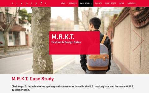 Screenshot of Case Studies Page flagship-agency.com - M.R.K.T. | Flagship Agency - captured Sept. 30, 2014
