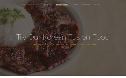 Screenshot of Home Page Menu Page gogiguikoreangrill.com - Korean Grill - captured Sept. 30, 2014