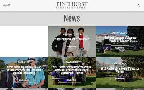 Screenshot of Press Page pinehurstconcours.com - News | Pinehurst Concours d'Elegance - captured Jan. 28, 2016