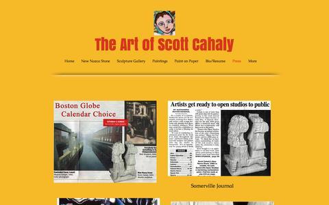 Screenshot of Press Page cahaly.net - Press - captured Nov. 19, 2016