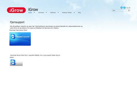 Screenshot of Support Page igrow.dk - Support - captured Sept. 30, 2014