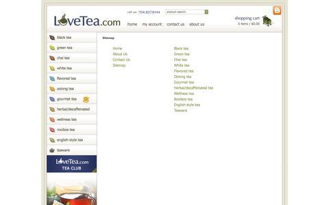 Screenshot of Site Map Page lovetea.com - Sitemap | LoveTea.com - captured Sept. 19, 2014