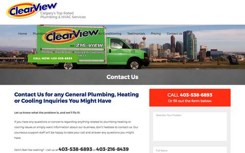 Get in Touch with ClearView Plumbing