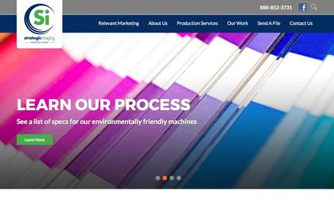 Screenshot of Home Page strategic-imaging.com - Commercial Printing and Direct Mail Marketing | VGM Strategic Imaging - captured June 17, 2017