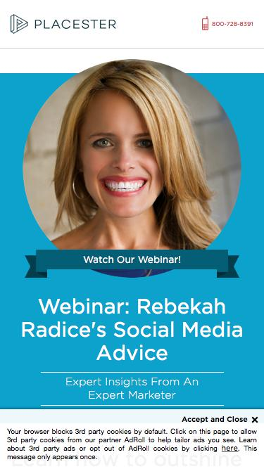 Placester Webinar: Social Media Mastery with Rebekah Radice: Outshine Your Competition