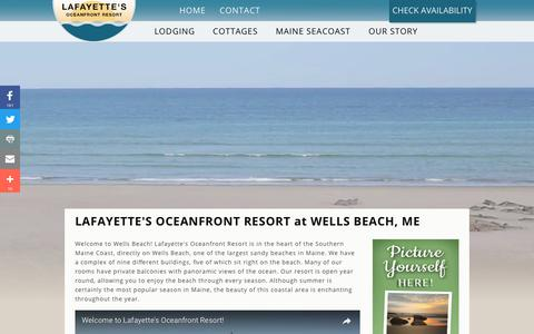 Screenshot of Home Page wellsbeachmaine.com - Stay In Wells Maine - captured July 12, 2017