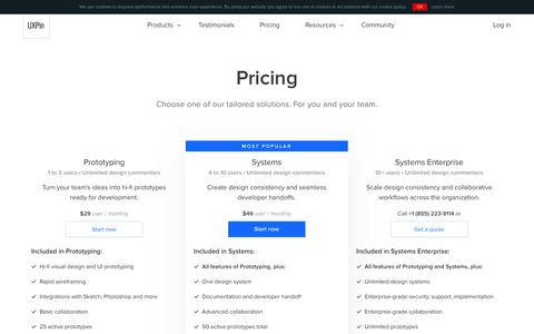 UXPin Pricing and Plans