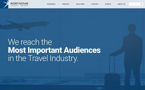 Screenshot of Home Page northstartravelgroup.com - Home | Northstar Travel Media, LLC - captured May 4, 2017